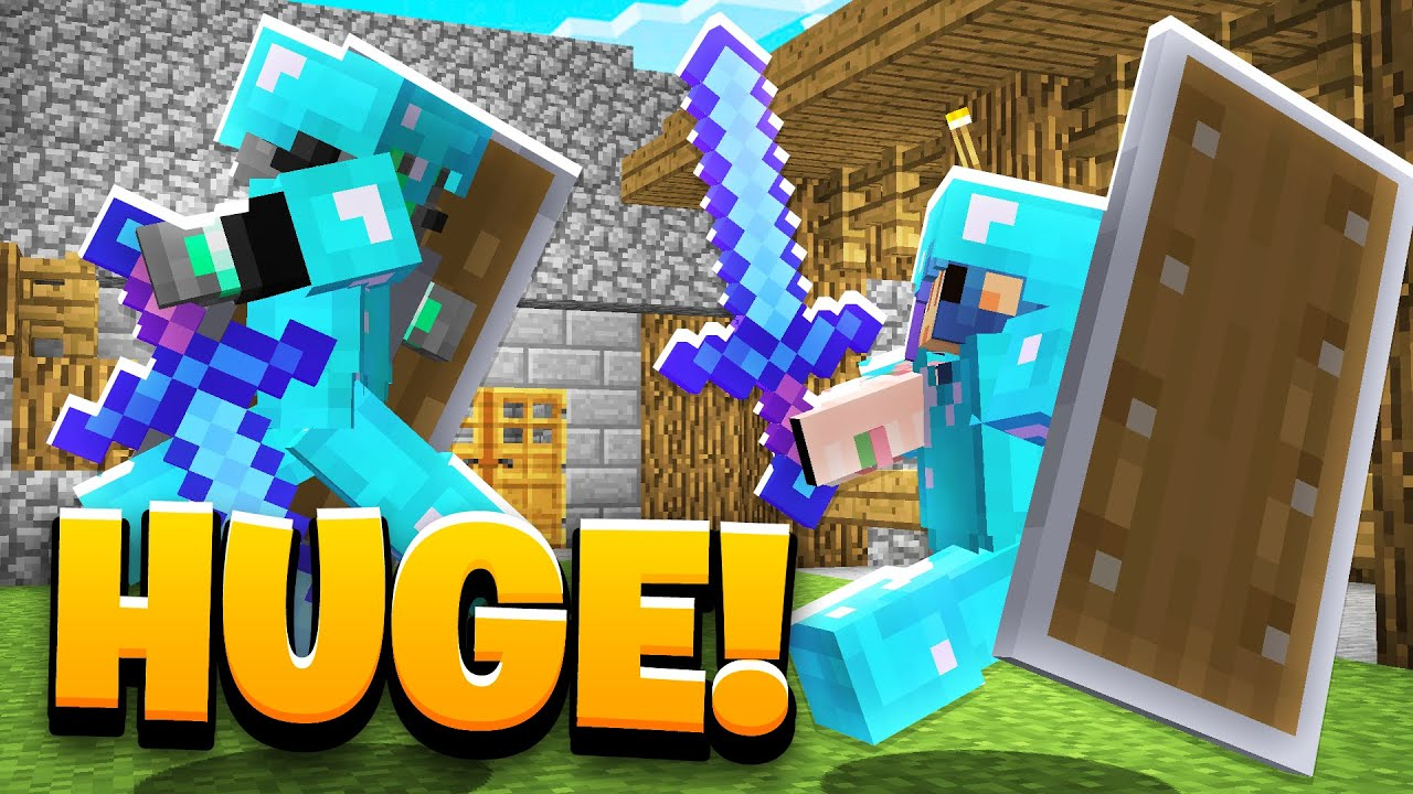 Minecraft but the items are HUGE...