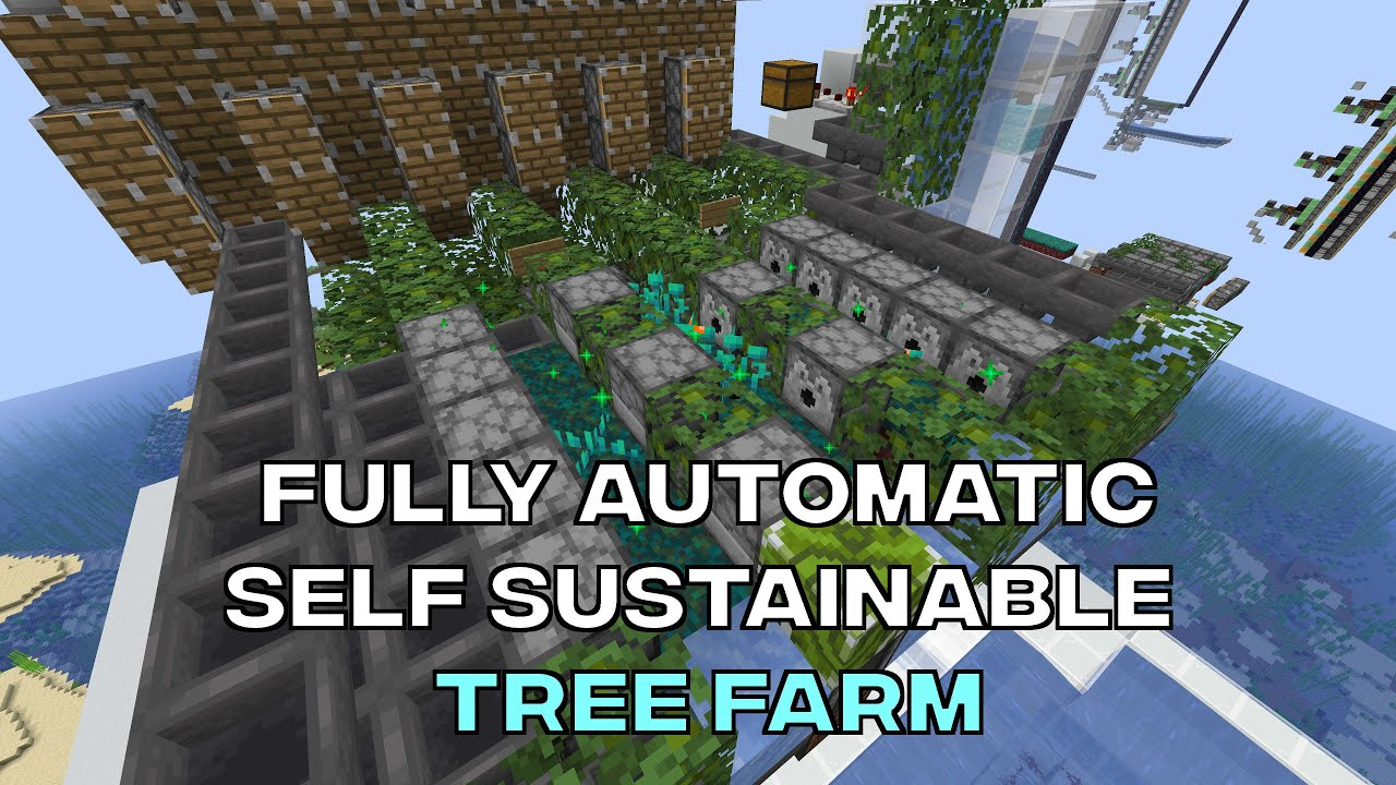 Tutorials Tree Farming Official Minecraft Wiki