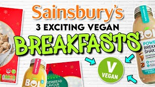 3 New UK Vegan Breakfasts at Sainsbury&#39s  ASMR Taste Test