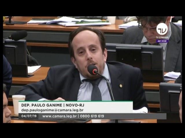 Deputado Paulo Ganime vota requerimento sobre a Nova Previdência na Comissão Especial