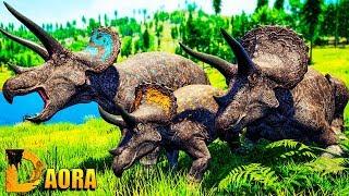 The Isle - Familia Silver Triceratops  Ataque do Giganotosaurus  Gameplay PTBR  ep 2