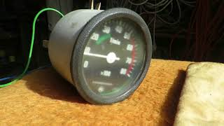 Zkouška otáčkoměru Škoda 120