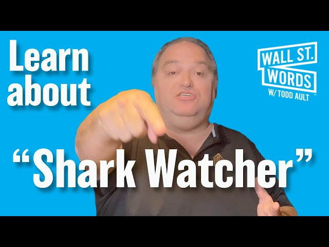Wall Street Words word of the day = Shark Watcher