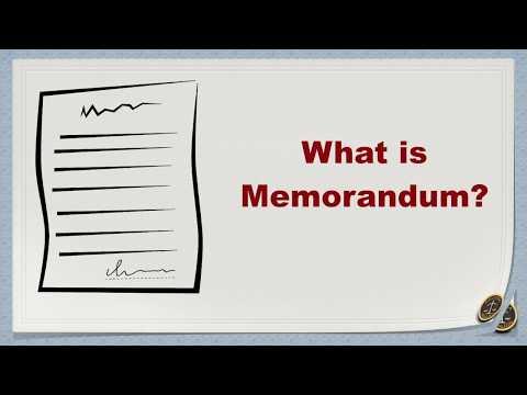 What is Memorandum?