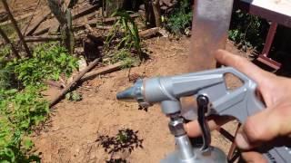 Pistola jateamento com Areia