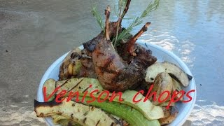 Marinated Garlic Herb Venison Chops On The Bbq