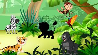 🦁 Dzikie zwierzęta dla dzieci - Odgłosy zwierząt - ZOO