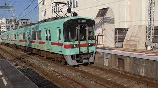 西鉄7050形(2両) 7151F  7661列車 普通(ワンマン) 大牟田行 西鉄久留米到着