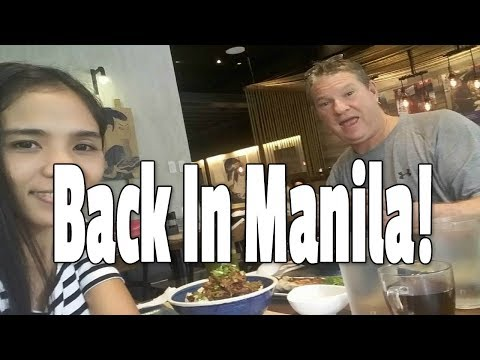 Working Back In Manila Philippines