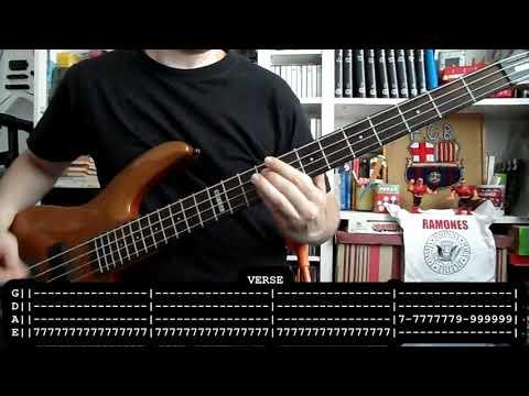 RAMONES - Beat on the brat (bass cover w/ Tabs)