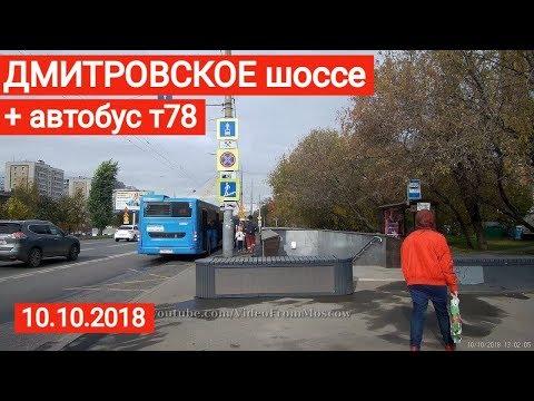 Прогулка по Дмитровскому шоссе и автобус т78 //  10 октября 2018