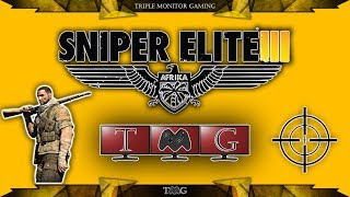 SNIPER ELITE 3 gameplay on triple monitor 5760x1080