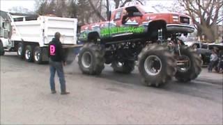 Mega Mud Truck VS Dump Truck Tug O War