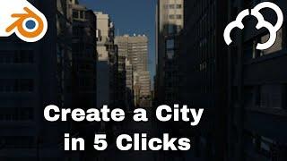 Blender - Create a city in 8 clicks - Scene City