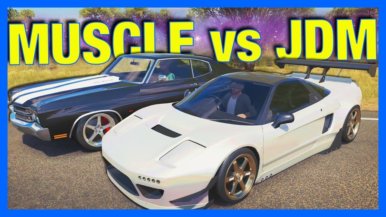 Forza Horizon Online Muscle Vs Jdm Challenge Youtube