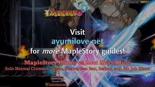 Ayumilove MapleStory Illium vs Root Abyss Bellum, Crimson Queen, Pierre