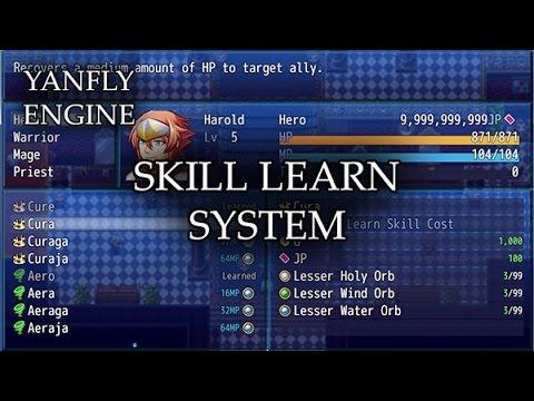 Skill Learn System (YEP) - Yanfly moe Wiki
