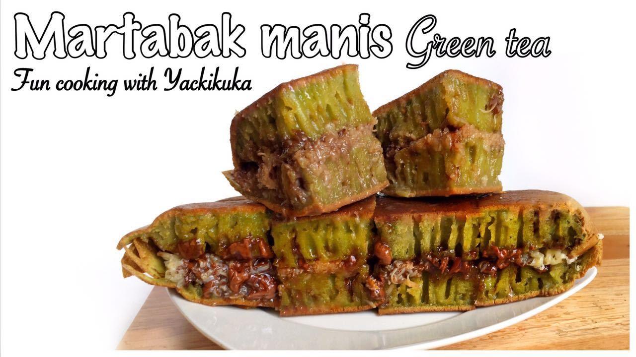 Marrabak Manis Terang Bulan Green Tea Indonesian Sweet Pancake Youtube