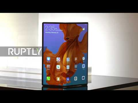 Spain: Huawei reveals foldable 5G phone at the MWC in Barcelona
