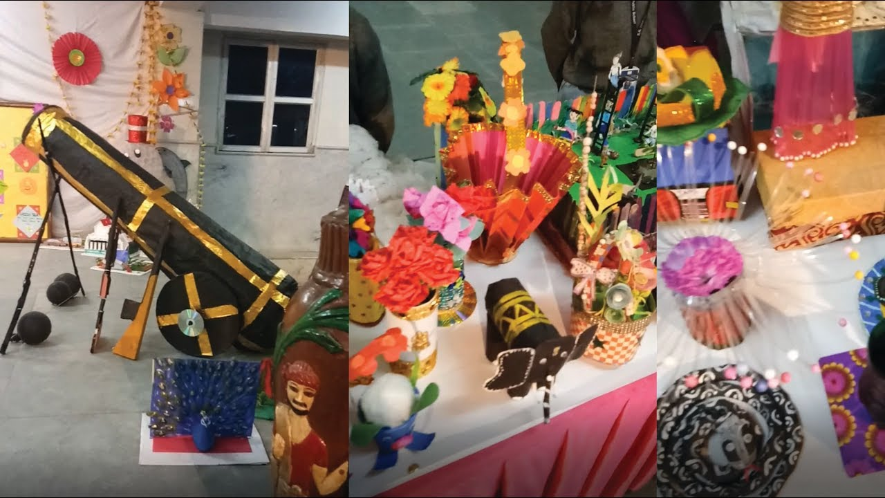 Science Models Arts And Crafts Exhibition 2017 Waste Material