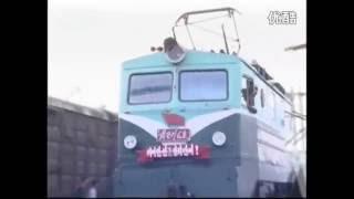 Freight train and some staff in the Democratic People's Republic of Korea (DPRK). Courtesy: uriminzokkiri.