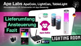 Akkubetriebene LED Scheinwerfer von Ape Labs / Test / Review