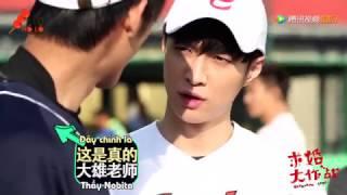 [Vietsub] Cầu Hôn Đại Tác Chiến Hậu Trường - Tiểu Lại học trưởng tập bóng chày