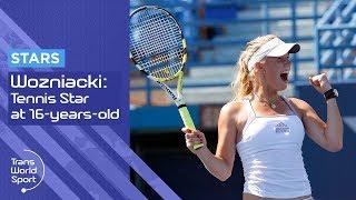 16-year-old Caroline Wozniacki on Trans World Sport