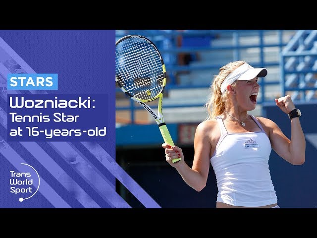 16-year-old Caroline Wozniacki on Trans World Sport