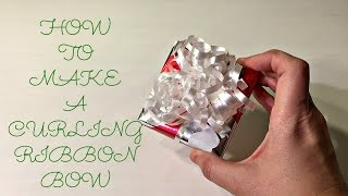 How to Make a Curling Ribbon Bow ~ Countdown to Christmas