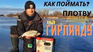 ГИРЛЯНДА Как поймать плотву подлеща густеру зимой на большой глубине Ловля белой рыбы на яме