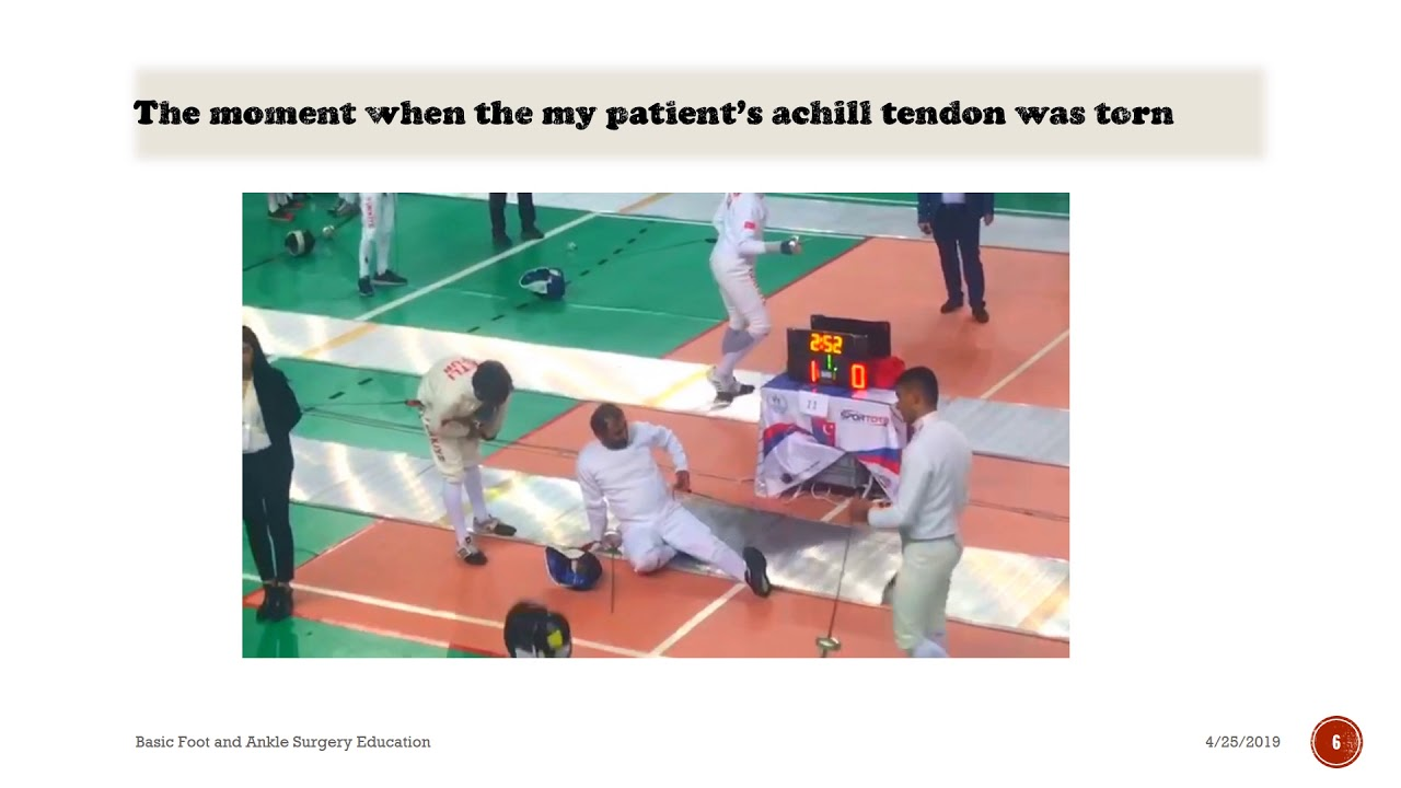 Amazing Video Record That Captured The Moment  Achilles Tendon Injury  (Real video)