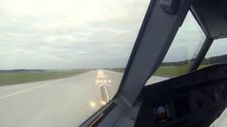 [Widok z kokpitu] Pierwszy start  - nowa droga startowa Katowice Airport (Pyrzowice)