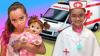 BIA LOBO MÉDICA POR 1 DIA E SALVA BABY ALIVE PRETEND PLAY WITH DOCTOR