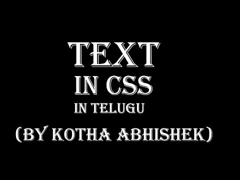 how to change text properties in css in telugu