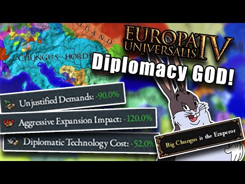EU4 but i stack aggressive expansion reduction... |