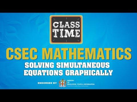 CSEC Mathematics - Solving Simultaneous Equations Graphically - February 23 2021