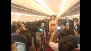 Bikini dance show by girls onboard a VietJet Air flight