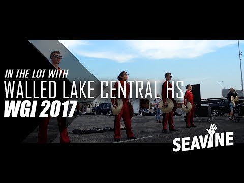Walled Lake Central High School Cymbal Line 2017 Semis- In the Lot with Seavine