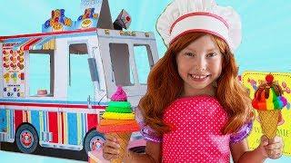 Alice y princesas juegan un Camión de comida de juguete y Nuevos Juguetes de Cocina