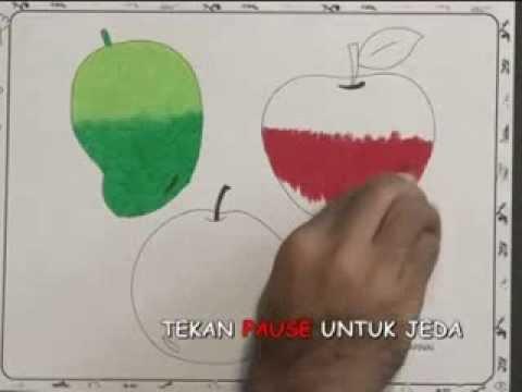 Mewarnai Gambar Apel Youtube