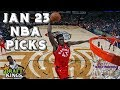 1/23/19 NBA DraftKings & Yahoo Picks