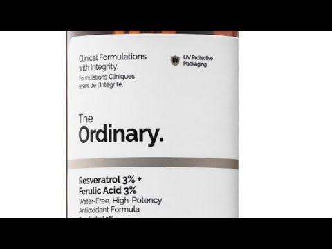 The Ordinary Resveratrol 3 Ferulic Acid 3 Review How To Use Youtube