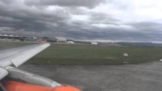 Sturm Niklas EasyJet Flug EZY4634 Basel nach Berlin-Schönefeld Sturm Landung A319 G-EZFX 31.03.15