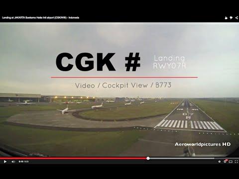 Landing at JAKARTA Soekarno Hatta Intl airport (CGK/WIII) - Indonesia