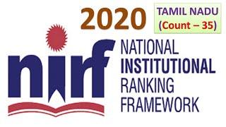 NIRF Engineering Colleges Ranking 2020 | Top 35 colleges in Tamil Nadu |#NIRF|#NIRFRanking|#NIRF2020
