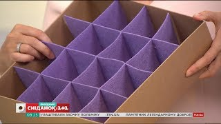 як зробити шафу з коробок для одягу
