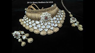 beautiful choker necklace set design 2018|| antique set || lifestyle