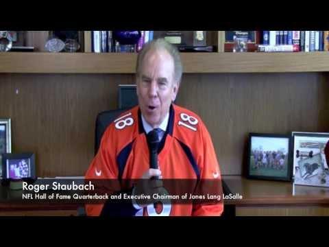 U.S. - Legendary Quarterback And JLL Executive Chairman Roger Staubach Predicts Winner Of Sunday's B