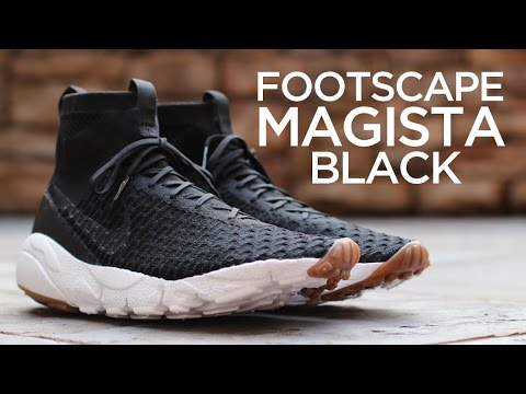 62ce677d7159 Closer Look  Nike Air Footscape Magista SP - Black - YouTube